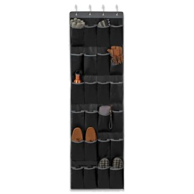 Studio 3B™ 24-Pocket Over-the-Door Shoe Organizer in Black