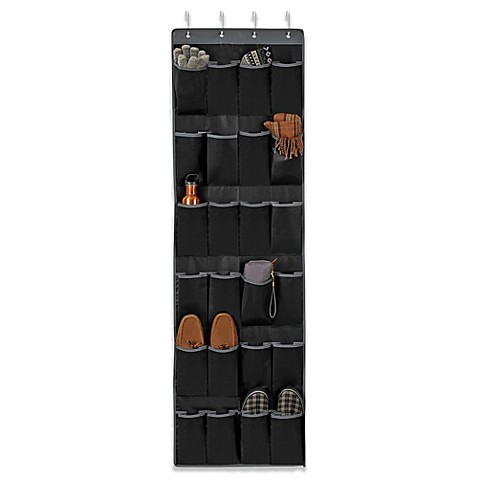 Studio 3b over the door 24 pocket shoe organizer www for Door shoe organizer