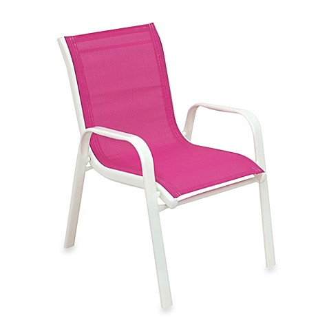 buy stacking patio chair in pink from bed bath beyond
