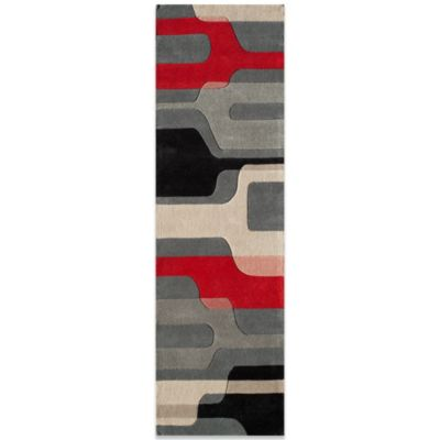 Black/Red/White Area Rugs