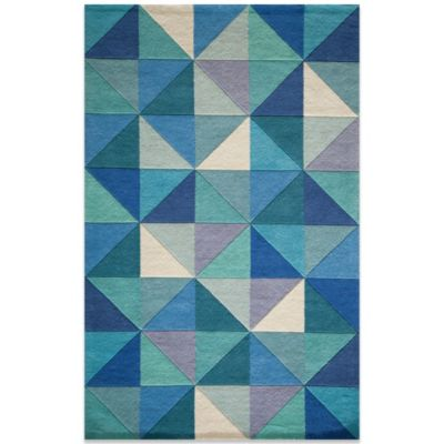 Momeni Delhi 3-Foot 6-Inch x 5-Foot 6-Inch Wool Rug in Blue/Diamond