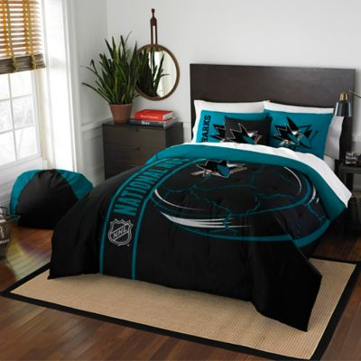 NHL San Jose Sharks Embroidered Full Comforter Set