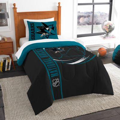 NHL San Jose Sharks Embroidered Twin Comforter Set