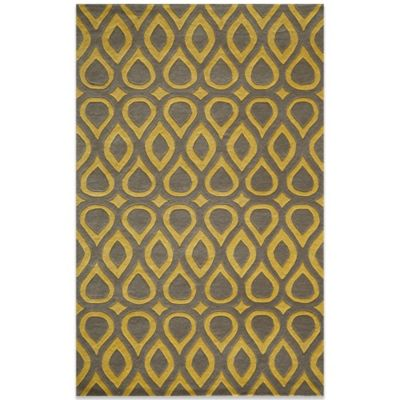 Momeni Delhi 3-Foot 6-Inch x 5-Foot 6-Inch Wool Rug in Grey