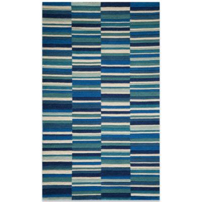 Momeni Delhi 3-Foot 6-Inch x 5-Foot 6-Inch DL-46 Rug in Blue