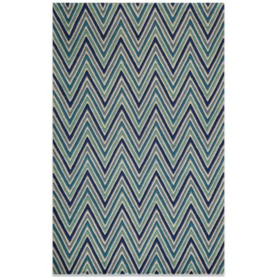 Momeni Delhi 3-Foot 6-Inch x 5-Foot 6-Inch Wool Rug in Blue