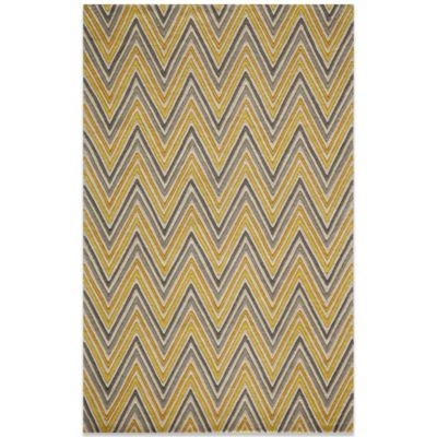 Momeni Delhi 5-Foot x 8-Foot DL-48 Rug in Yellow