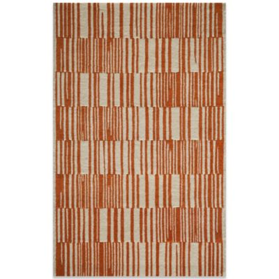 Momeni Delhi 3-Foot 6-Inch x 5-Foot 6-Inch DL-49 Rug in Orange