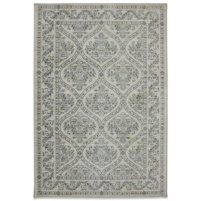 Mohawk Home Serenity Augustine 2-Foot 1-Inch x 7-Foot 10 Inch Rug in Butter Pecan