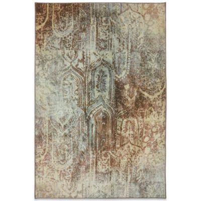 Mohawk Home Serenity Bon Adventure 2-Foot 1-Inch x 7-Foot 10-Inch Rug in Winter Mist