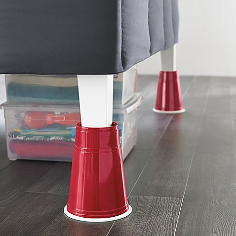 8 inch red solo cup bed risers set of 4 bed bath beyond. Black Bedroom Furniture Sets. Home Design Ideas