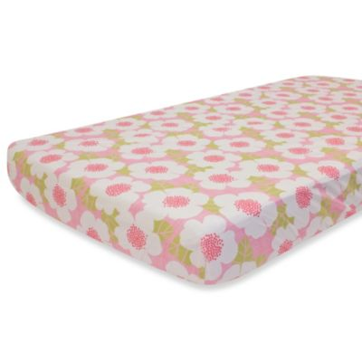 Nurture Imagination Garden District Fitted Crib Sheet in Flower Print