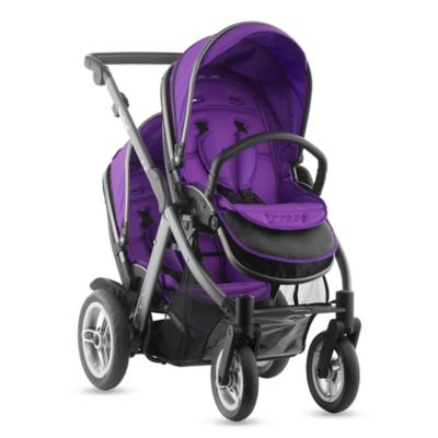 Joovy® Too Qool Double Stroller with Graphite Grey Frame in Purpleness