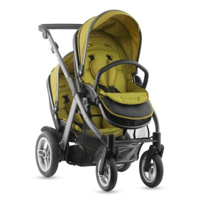 Joovy® Too Qool Double Stroller with Graphite Grey Frame in Avocado