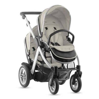 Joovy® Too Qool Silver Double Stroller in Vanilla