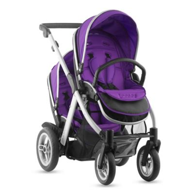 Joovy® Too Qool Silver Double Stroller in Purpleness