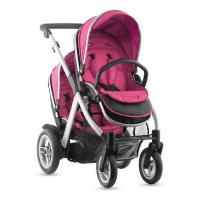 Joovy® Too Qool Silver Double Stroller in Hot Pink