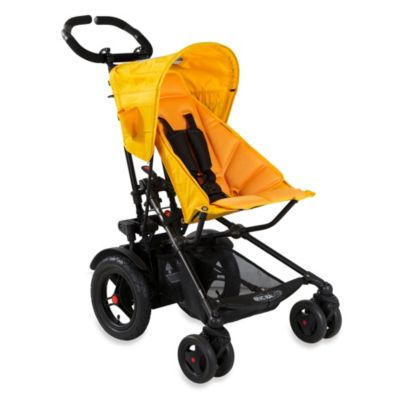 Yellow Double Stroller