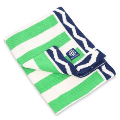 Bella Tunno Prep Talk Knit Stroller Blanket in Blue