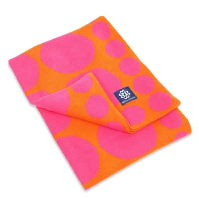 Bella Tunno Connect the Dots Knit Stroller Blanket in Fucshia