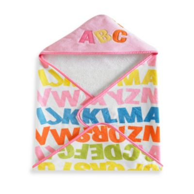 Kassatex Bambini Baby Alphabet Hooded Towel