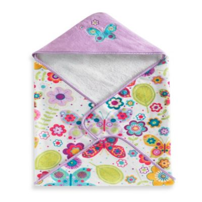 Kassatex Bambini Baby Butterflies Hooded Towel