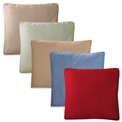 Sure Fit® Cotton Duck 18-Inch Square Throw Pillow in Bluestone