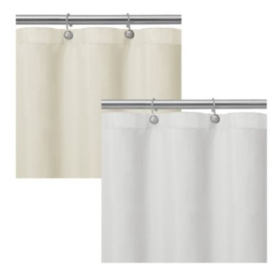 Matthew Textured Microfiber Shower Curtain Liner in White