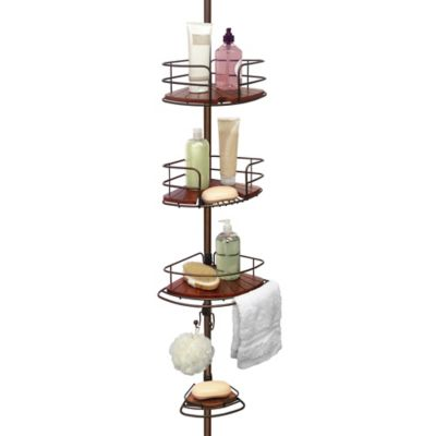 Buy 4 Shelf Tension Pole Shower Caddy From Bed Bath Beyond