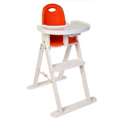Svan™ Baby-to-Booster High Chair in White/Tangerine