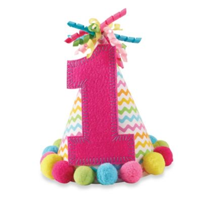 "Mud Pie® ""I'm One"" Party Hat in Pink"