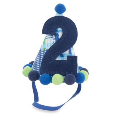"Mud Pie® ""I'm Two"" Party Hat in Blue"