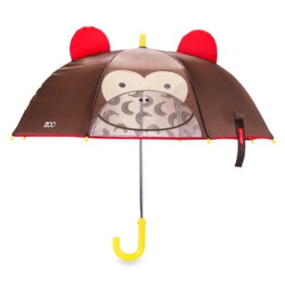 SKIP*HOP® Zoobrella Little Kid Monkey Umbrella in Brown