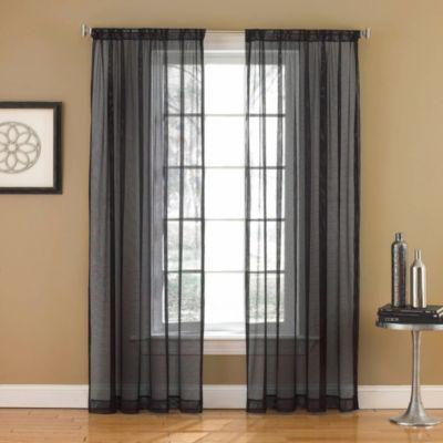 buy black white sheer curtains from bed bath beyond