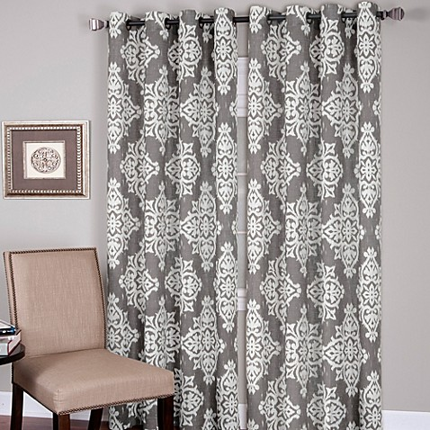 Buy Medina Grommet 84 Inch Window Curtain Panel In Grey From Bed Bath Beyond