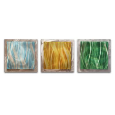 Light Essence 3-Panel Layered Metal Wall Art
