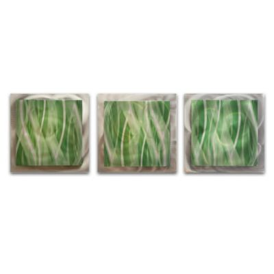Mint Essence Layered Modern Metal Wall Art
