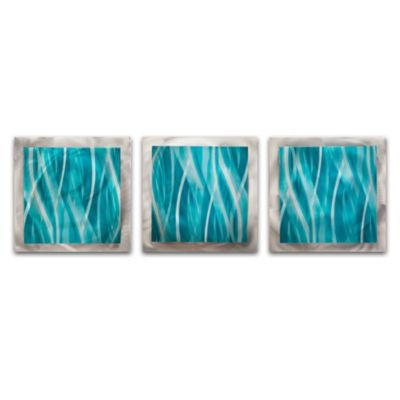 Turquoise Essence 3-Panel Modern Wall Art