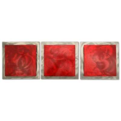 Red Essence Layered Modern Wall Art