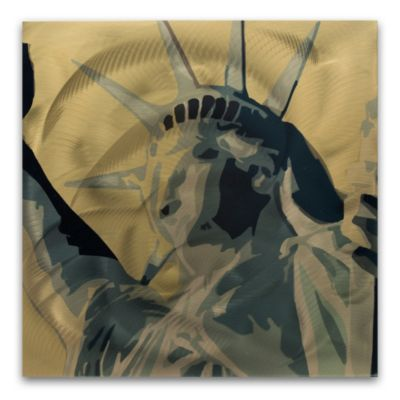 Statue of Liberty Colorful Abstract Wall Art
