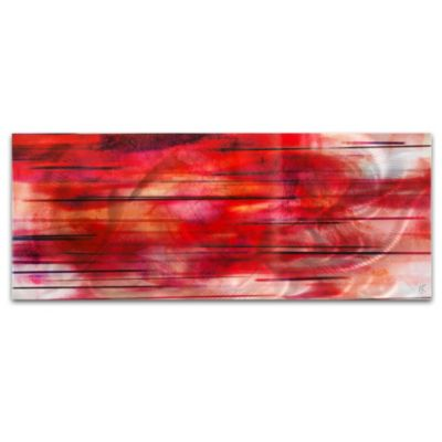 Tropical Sunset Red and Orange Abstract Wall Art
