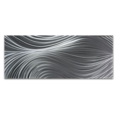 Metal Art Studio Passing Currents Composition Textural Wall Art