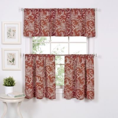 Flora Window Curtain Valance in Mineral