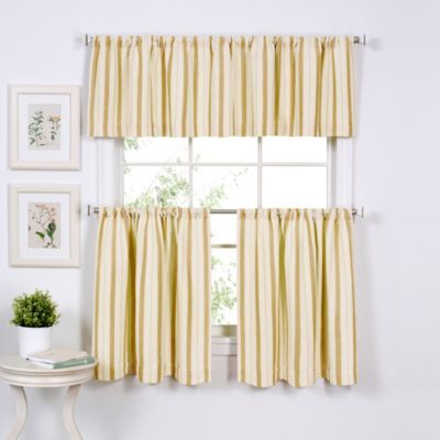 Window Curtain Valance in Gold
