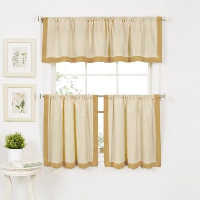 Wilton Window Curtain Valance in Gold