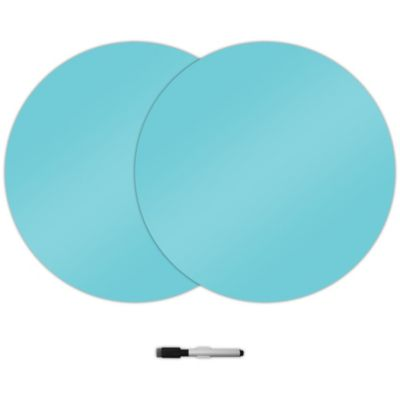 WallPops!® Peel + Stick Dry-Erase Dot Decals in Atlantis Blue (Set of 3)