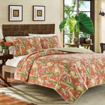 Tommy Bahama Orange Twin Quilt