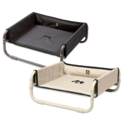 Coolaroo Maelson Medium Soft Raised Dog Bed in Tan