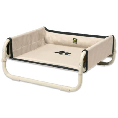 Coolaroo Maelson Small Soft Raised Dog Bed in Tan