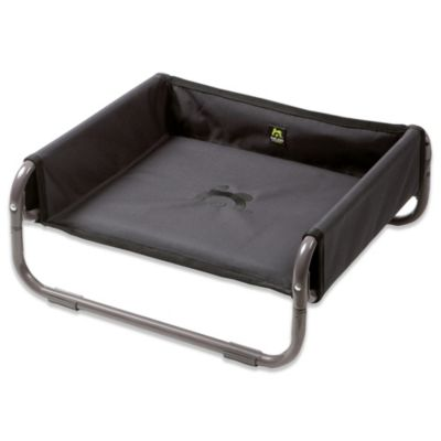 Coolaroo Maelson Small Soft Raised Dog Bed in Anthracite
